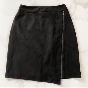 WHBM Faux Suede Zip Skirt NWT